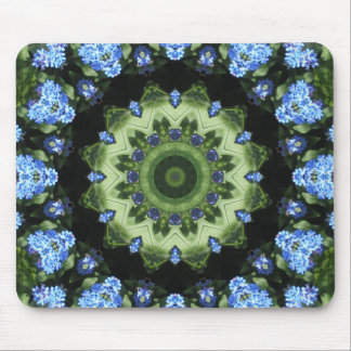 Forget Me Not 001 02.1 Forgetmenot, Nature Mandal Mouse Pad