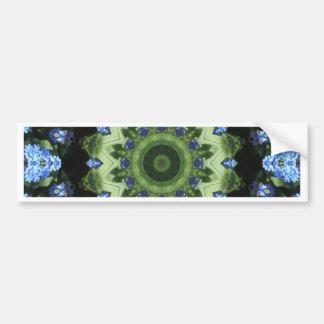 Forget Me Not 001 02.1 Forgetmenot, Nature Mandala Bumper Sticker