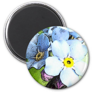 Forget-me-not 2 Inch Round Magnet