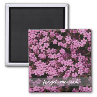 forget-me-not 2 inch square magnet