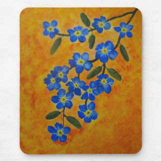 Forget-Me-Not acrylic painting Mouse Pad