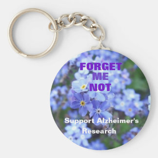 Forget Me Not Alzheimer's Keychain