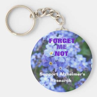 Forget Me Not Alzheimer's Keychain
