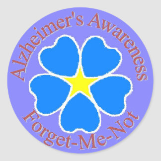 Forget Me Not Alzheimer's Sticker