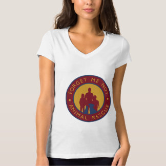 Forget Me Not Animal Rescue Logo V-Neck T T-Shirt