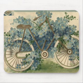 Forget Me Not Bicycle Birthday Mouse Pad