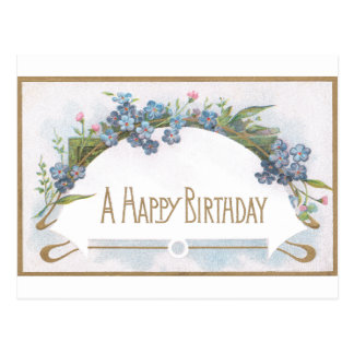 Forget-Me-Not Birthday Postcard