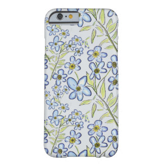 Forget-Me-Not Blue Floral Design Barely There iPhone 6 Case