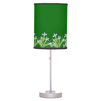 Forget-me-Not blue flowers green lamp