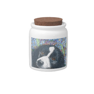 Forget me not Border Collie dog Candy Dishes