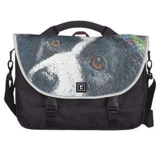 Forget me not Border Collie dog Bag For Laptop