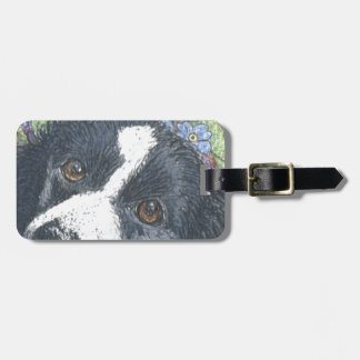 Forget me not Border Collie dog Travel Bag Tags