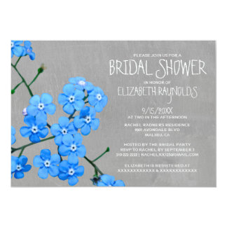 Forget-Me-Not Bridal Shower Invitations