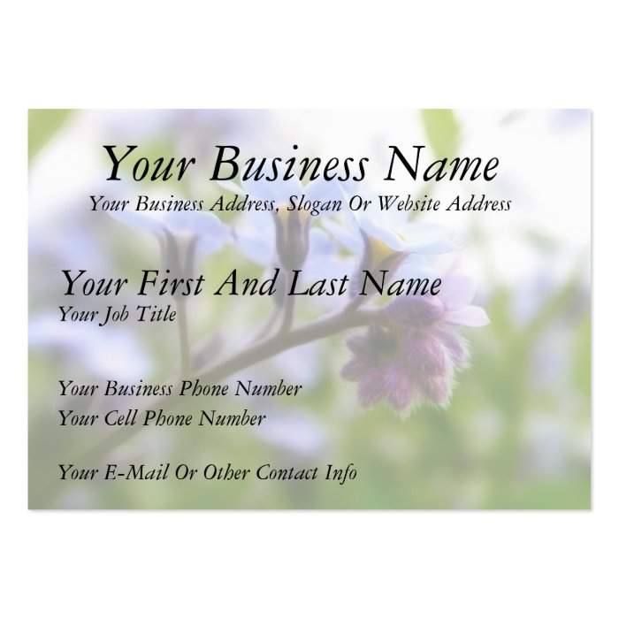Forget Me Not Buds Large Business Card