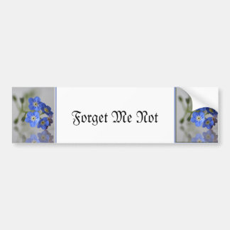 Forget Me Not Bumper Sticker