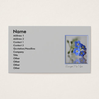 Forget me Not Business Card