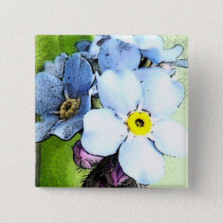 Forget-me-not Button