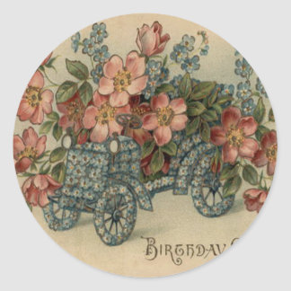 Forget Me Not Car Flowers Classic Round Sticker