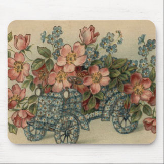 Forget Me Not Car Flowers Mouse Pad