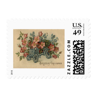 Forget Me Not Car Flowers Postage