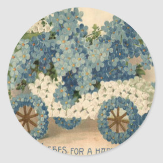 Forget Me Not Car Model T Birthday Classic Round Sticker