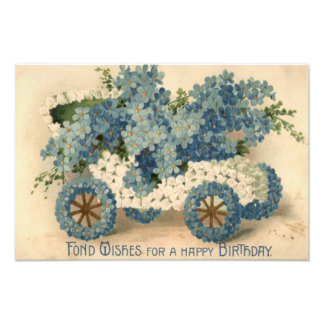 Forget Me Not Car Model T Birthday Photo Print