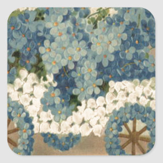 Forget Me Not Car Model T Birthday Square Sticker