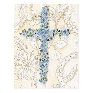 Forget Me Not Cross Postcard