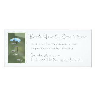 "Forget-me-not Custom 4"" x 9.25"" Wedding Invitation"
