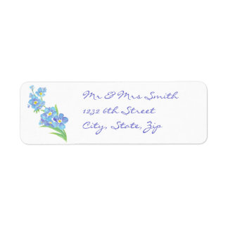 Forget me not Custom Watercolor Garden Flower Label
