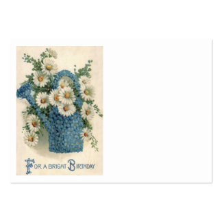 Forget Me Not Daisy Watering Can Large Business Card