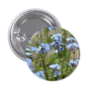 Forget Me Not Floral Button / Badge