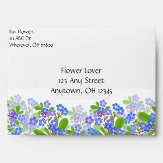 Forget Me Not Floral Envelope