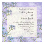 """Forget Me Not Floral Spring Wedding Invitations 5.25"""" Square Invitation Card"""