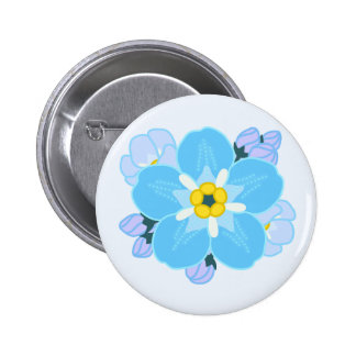 Forget-me-not Flower 2 Inch Round Button