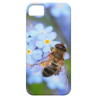 Forget me not flower and a hoverfly iPhone SE/5/5s case