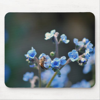 Forget me not flower, bee and meaning mouse pads