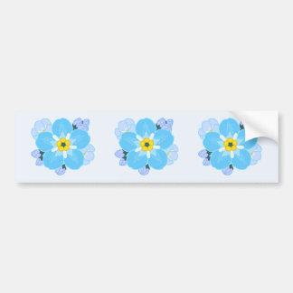 Forget-me-not Flower Car Bumper Sticker