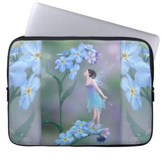 Forget-Me-Not Flower Fairy Art Laptop Sleeve