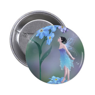 Forget-Me-Not Flower Fairy Button Badge