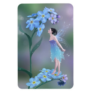 Forget-Me-Not Flower Fairy Flexible Magnet