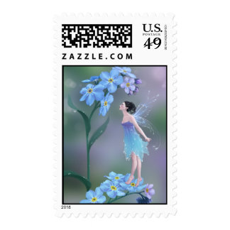 Forget-Me-Not Flower Fairy Postage Stamps