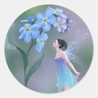 Forget-Me-Not Flower Fairy Sticker