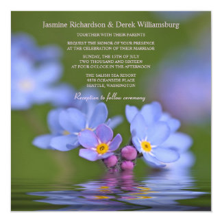 Forget Me Not Flower Photo Wedding Invitations