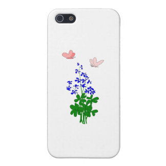 Forget-me-not flowers blue, shamrock, butterfly cases for iPhone 5