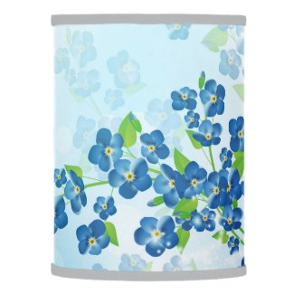 Forget Me Not Flowers Lamp Shade