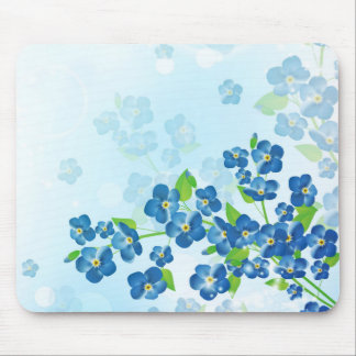 Forget Me Not Flowers Mouse Pad