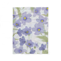 forget-me-not flowers pattern fleece blanket