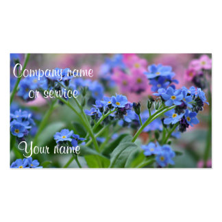 Forget-me-not flowers photo Double-Sided standard business cards (Pack of 100)