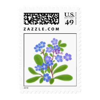 Forget Me Not Flowers Postage